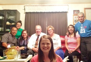 Our ward mission leaders and us: Hermana Bonilla, Hermano and Hermana Munoz (ward missionaries whom we absolutely adore), Elder and Sister Jolly (the Daily Dose couple -- they teach English), and Mirta and Daniel Inga.